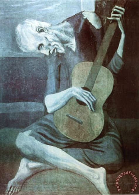 picasso paintings to print pablo picasso guitarist print poster painting