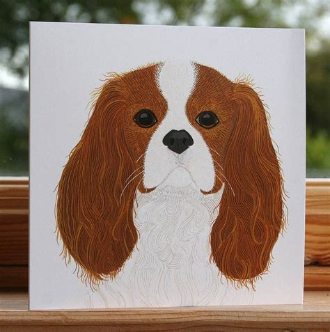 puppy cards cavalier king charles spaniel card by bird notonthehighstreet