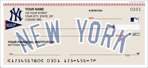 New York Background Check New York Yankees Checks Designer Checks
