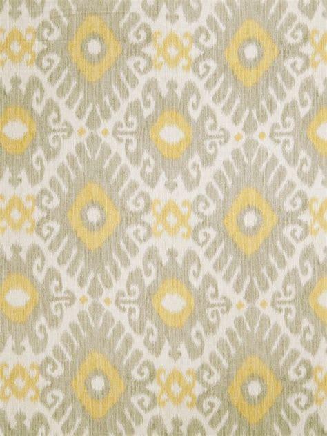 yellow ikat pattern lemon yellow grey ikat linen upholstery fabric light