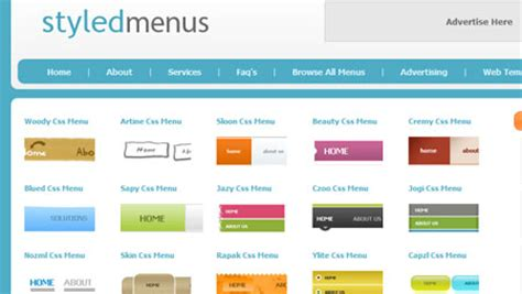 menu design en css menus webappsdepot web resources css ajax tutorials