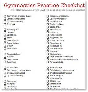 gymnast checklist gymnastics coaching