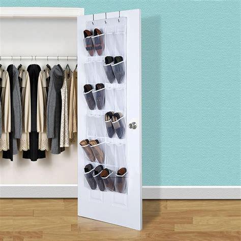 24 pockets clear door hanging 24 pockets convenient clear door hanging shoe rack