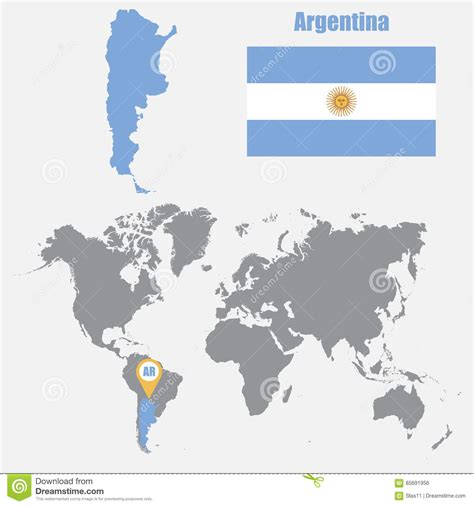 where is argentina on the world map location of argentina on world map map