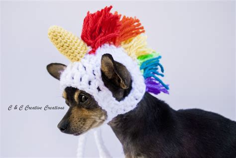 unicorn puppy unicorn hat by cccreativecreations on etsy