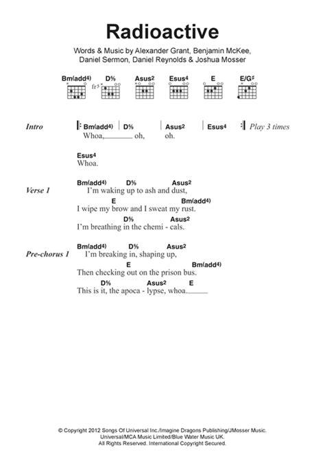 Dorable Imagine Dragons Guitar Chords Gift - Beginner Guitar Piano ...