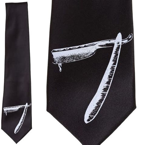 razor tie by se7en deadly in black
