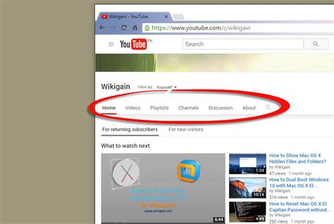 youtube page layout messed up how to enable youtube channel navigation tabs wikigain