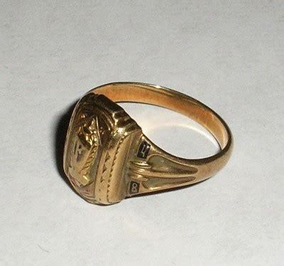vintage 1948 josten 10k yellow gold class ring 418031039