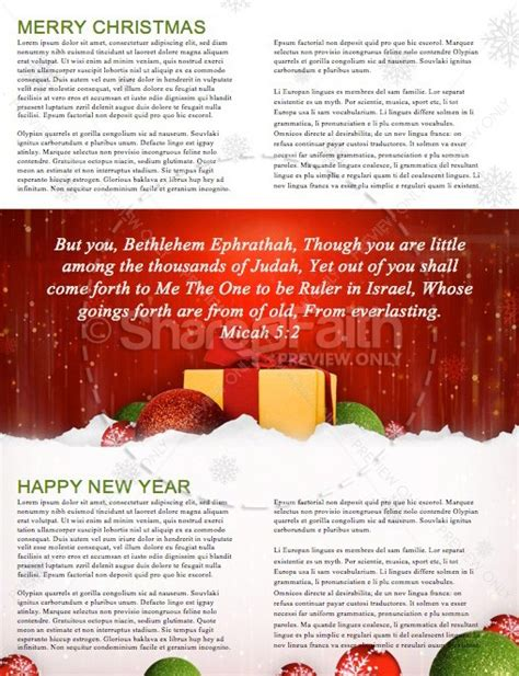 new year newsletter template merry happy new year religious newsletter