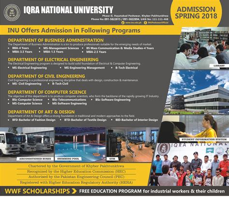 Courses Of Mba In Iqra by Admission Open In Iqra National Peshawar 12 Jan