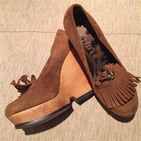 Wedges Bb 08 M0ca 84 sam edelman shoes sam edelman leather wedges from etc s closet on poshmark