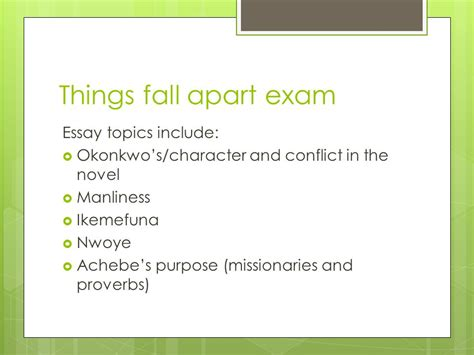 Achebe Essay by Things Fall Apart Monday January Ppt