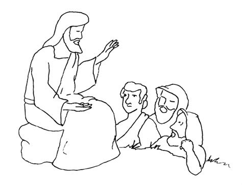 coloring page jesus preaching free coloring pages of sermons