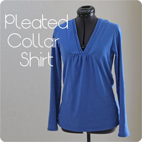 sewing patterns t shirts women s pleated collar women s t shirt shirt tutorial with free