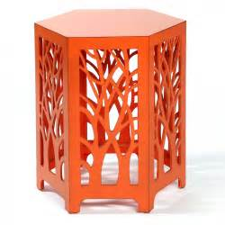Orange Side Table Swirl Fretwork Side Table Orange Occasional Tables Interiors Furniture