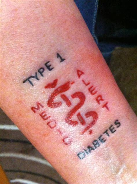 tattoos and diabetes type 1 diabetes praying for a cure