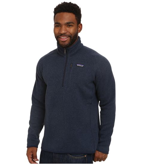 patagonia better sweater patagonia better sweater 1 4 zip in blue for lyst