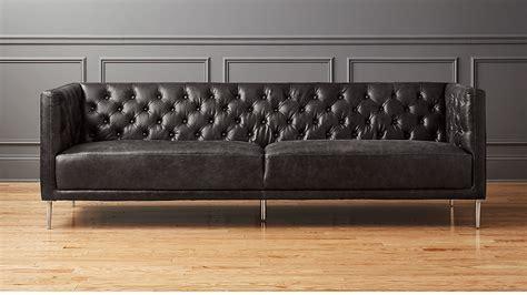 black tufted leather sofa tufted leather sofa bray on
