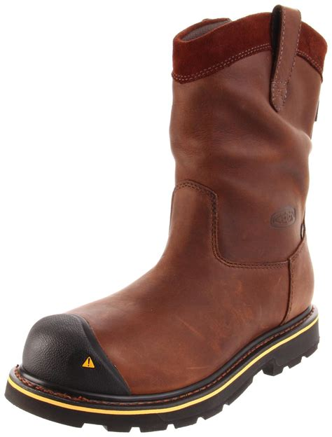keen boots for keen mens dallas wellington soft toe work boot in brown
