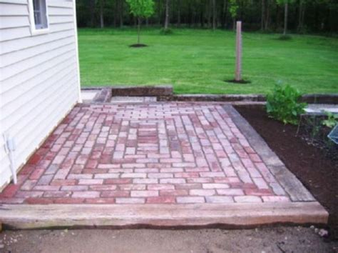 easy brick patio brick designs for patios home ideas