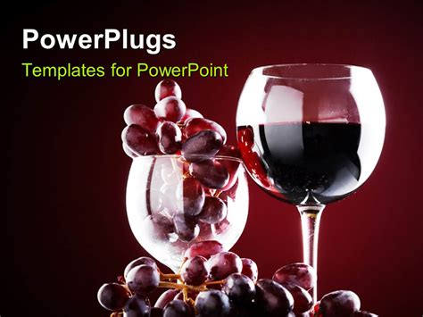 powerpoint templates free wine powerpoint template wine glass with red wine and red
