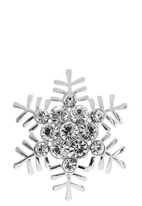 Rhinestone Snowflake Brooch rhinestone snowflake brooch brooches cato fashions