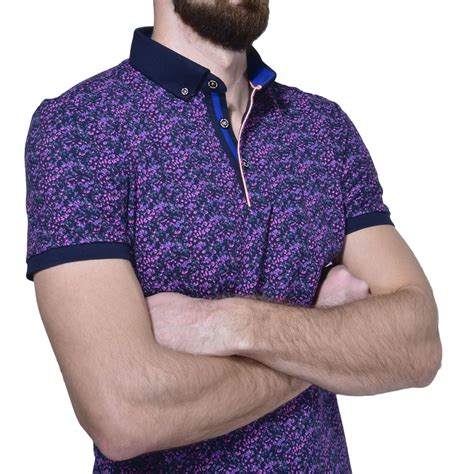 Patterned Polo Shirt purple patterned polo shirt polo shirts e shop
