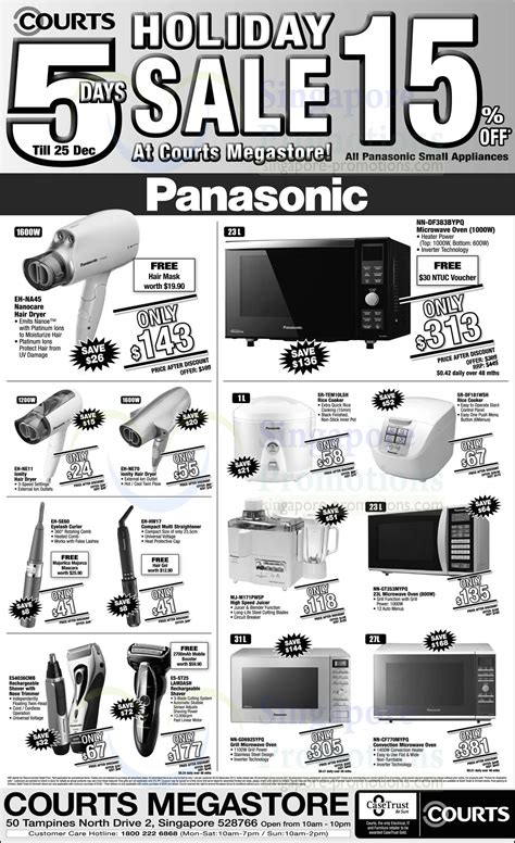 Panasonic Hair Dryer Courts by Panasonic Hair Dryers Ovens Shavers Rice Cookers