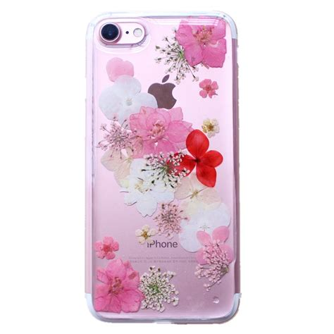 floral iphone 6 6s 7 8 x plus real dried flower soft tpu cover for iphone x