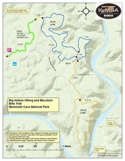 kentucky hiking map pinned from kymba org mammoth cave hiking and road