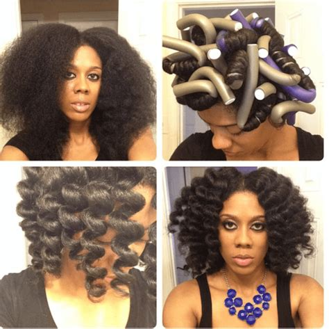 how to use flexi rods on natural hair braids cheating a bantu knot out happily ever natural