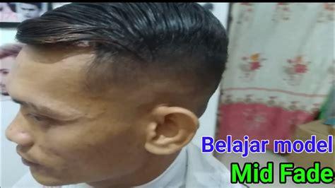 model rambut mid fade youtube