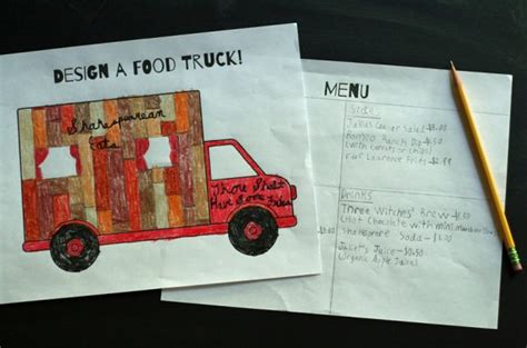 food truck design project design a food truck printable make and takes