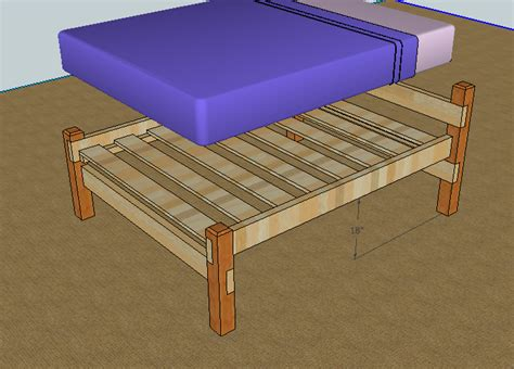 Simple Wood Bed Frame Plans Simple Bed Frame By Luckysawdust Lumberjocks Woodworking Community Do It