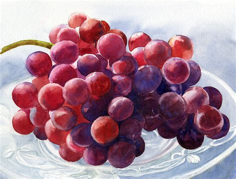 acrylic painting grapes grapes on a plate painting by freeman
