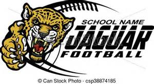 vector of jaguar football team design with mascot for