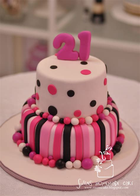 21st Birthday Cakes by Creative Custom Made 21st Birthday Cake Pink Design