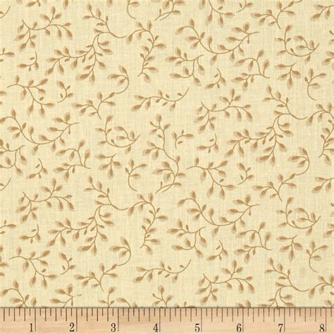 108 wide quilt backing folio vines pale yellow