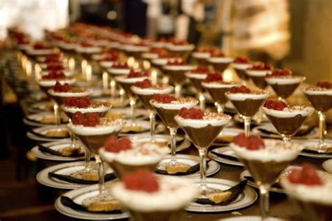 dessert in a martini glass a rat pack engagement soiree the
