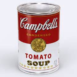 cbell tomato soup canned 3d model