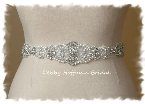 rhinestone pearl bridal sash wedding by