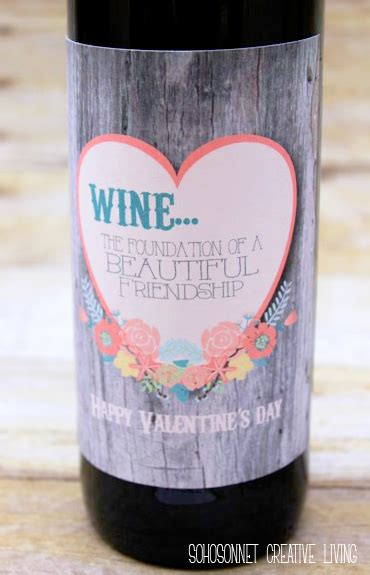 diy wine label template valentines day wine and gift labels sohosonnet