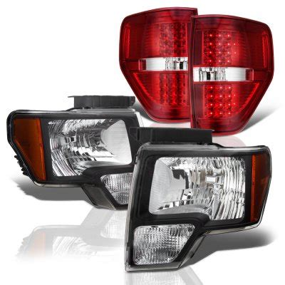 2010 ford f150 tail lights 2010 ford f150 black headlights and red led tail lights