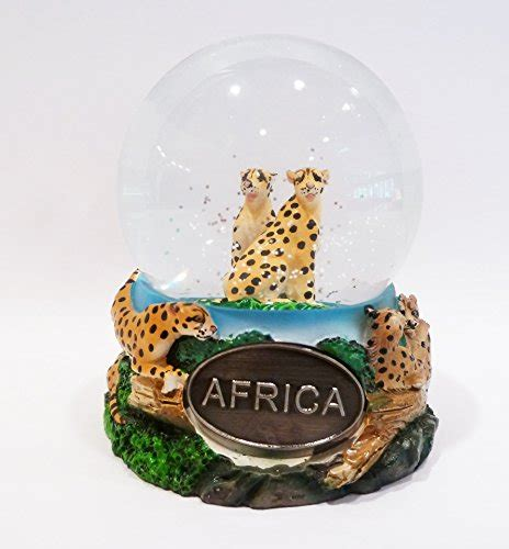 african cheetah snow globe exclusive 65mm home garden