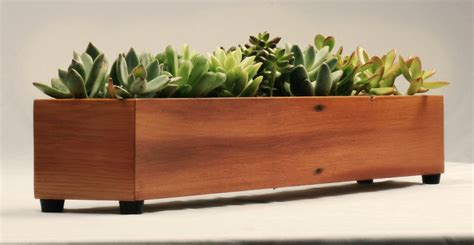modern wood planter box indoor window planter by