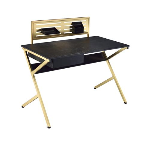 black and gold desk chair homesullivan marlowe flip compartment white writing desk