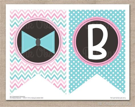 printable gender reveal banner gender reveal party instant download printable banner pink
