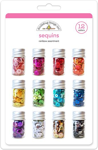 doodlebug sequins doodlebug design rainbow pack sequins