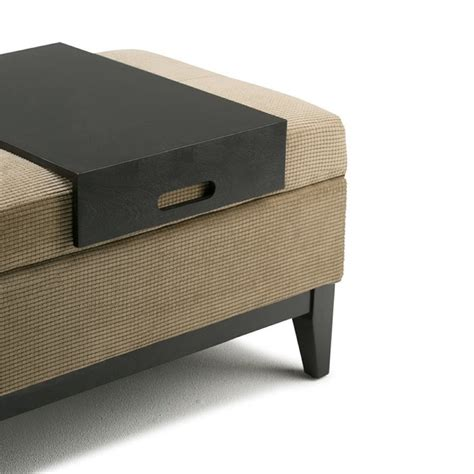 storage bench with tray storage bench with tray in khaki beige 3axcot 245 tc